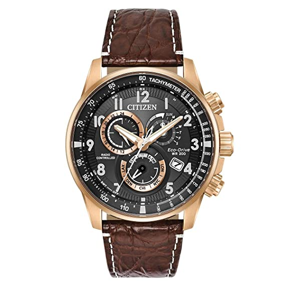 5022eafa0853 Citizen PCAT Perpetual Alarm Chronograph Black Dial Men s Watch AT4133-09E   Amazon.ca  Watches