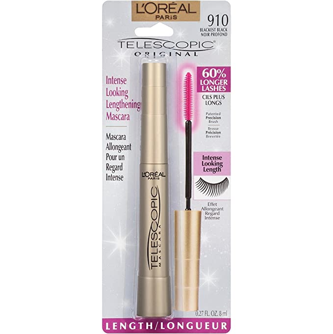 e7679ecebf3 L'Oreal Paris Telescopic Original Mascara, 910 Blackest Black:  Amazon.co.uk: Health & Personal Care