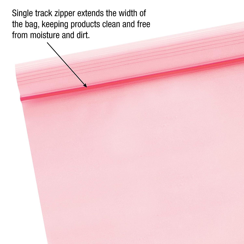 Bauxko Anti Static Flat Poly Bags Pink 12x22 4 Mil