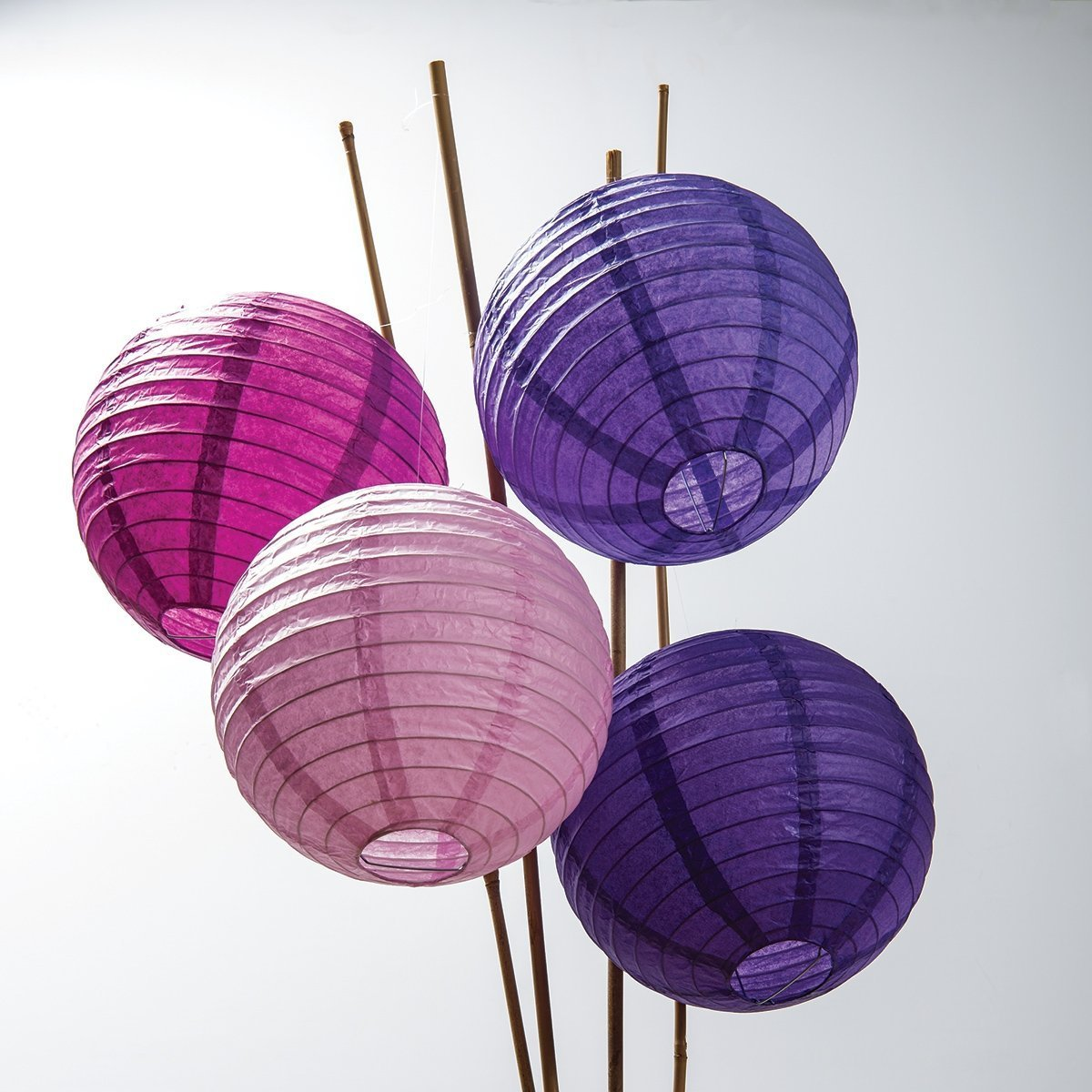 Sopeace 17 PCS 8'' 10'' Lavender Purple Pink White Tissue Paper Pom Pom Flowers and Paper Lanterns Party Decoration by Sopeace (Image #4)