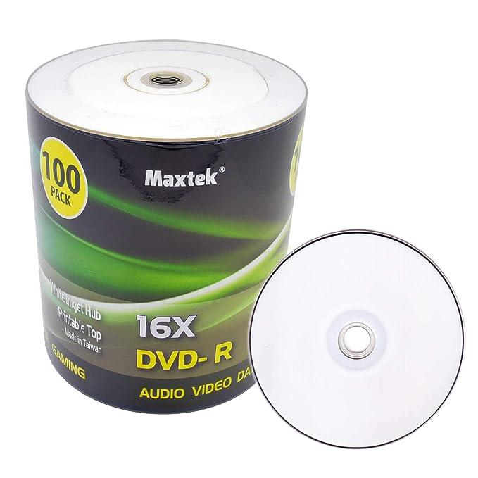 Maxtek Premium Grado Blanco inyección de Tinta HUB imprimible DVD ...