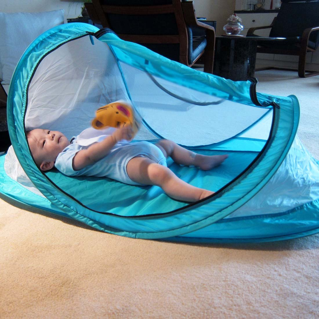 Amazon.com  kilofly Original Instant Pop Up Portable Travel Baby Beach Tent + 2 Stake Pegs  Infant And Toddler Travel Beds  Baby & Amazon.com : kilofly Original Instant Pop Up Portable Travel Baby ...