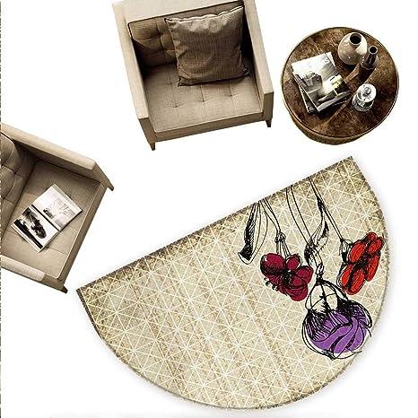 Amazon.com: Cojín semicircular floral Shabby Chic Vintage ...