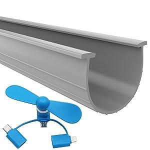 The 2019 Gray Garage Door Bottom Seal | 20 Foot, 3.75 Inch Width Garage Door Seals Bottom Rubber Replacement Kit | T-Ends Garage Door Weather Seal Threshold Strip | Easily Cut & Adapt to Doors