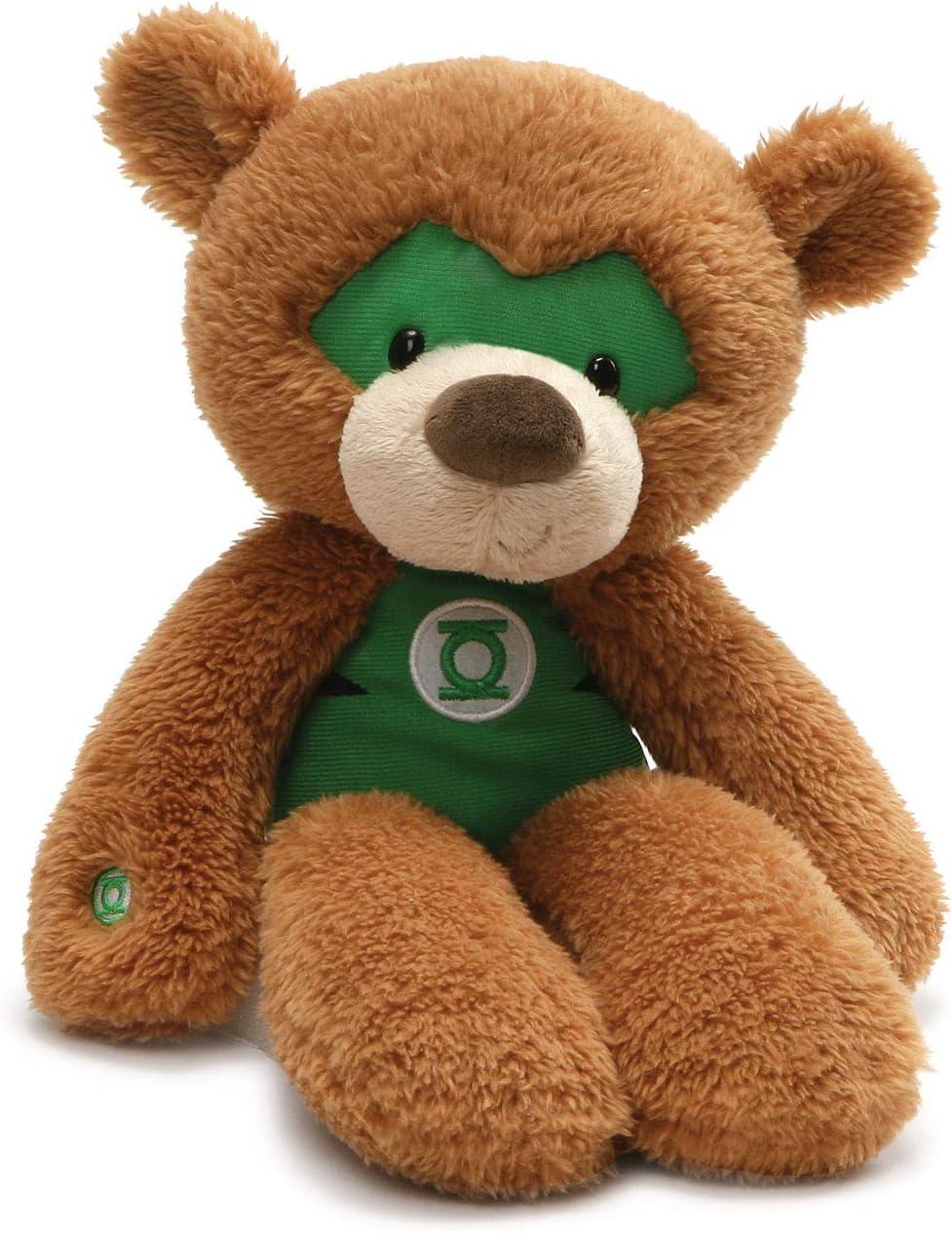 "GUND DC Comics Universe Green Lantern Fuzzy Teddy Bear Stuffed Animal Plush, Brown, 14"""