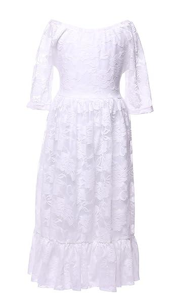 Amazon.com: cilucu niña de las flores vestidos encaje niños ...