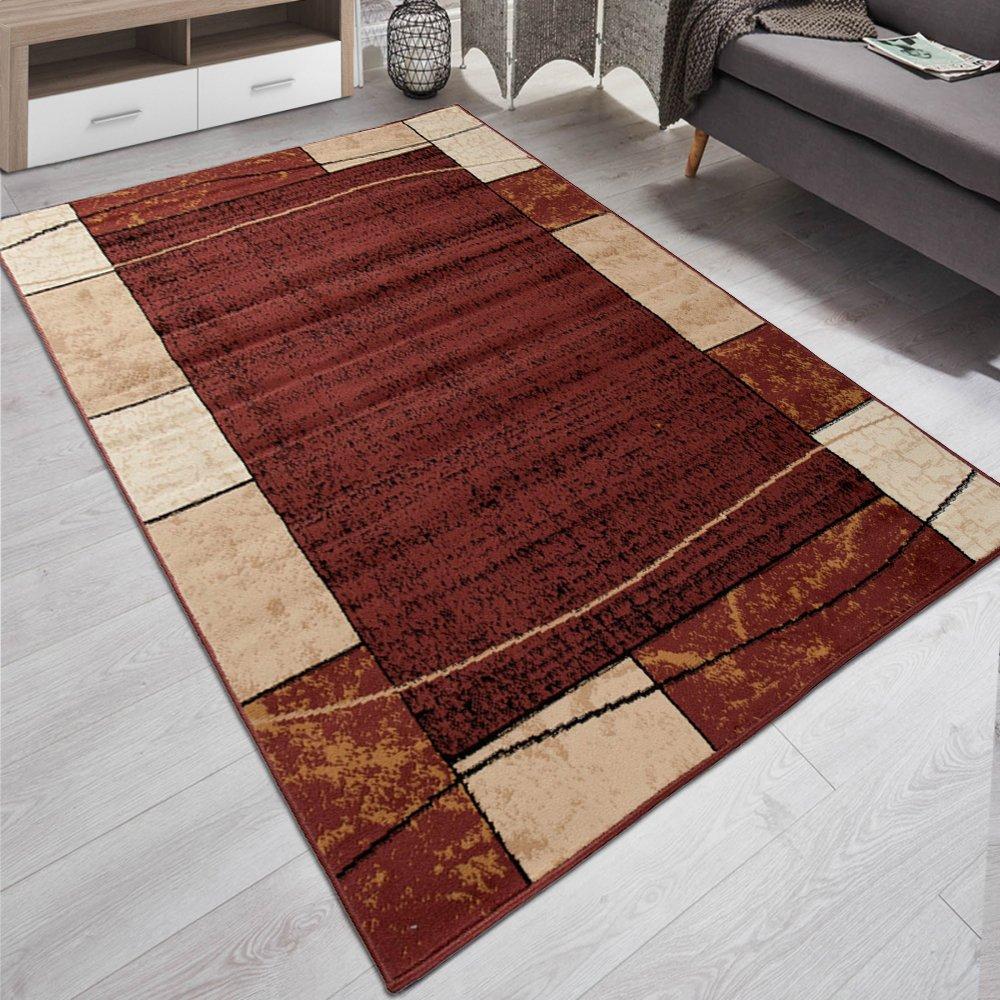 Carpeto Designer Teppich Wohnzimmer Retro Meliert in Braun Beige - ÖKO Tex (250 x 300 cm)