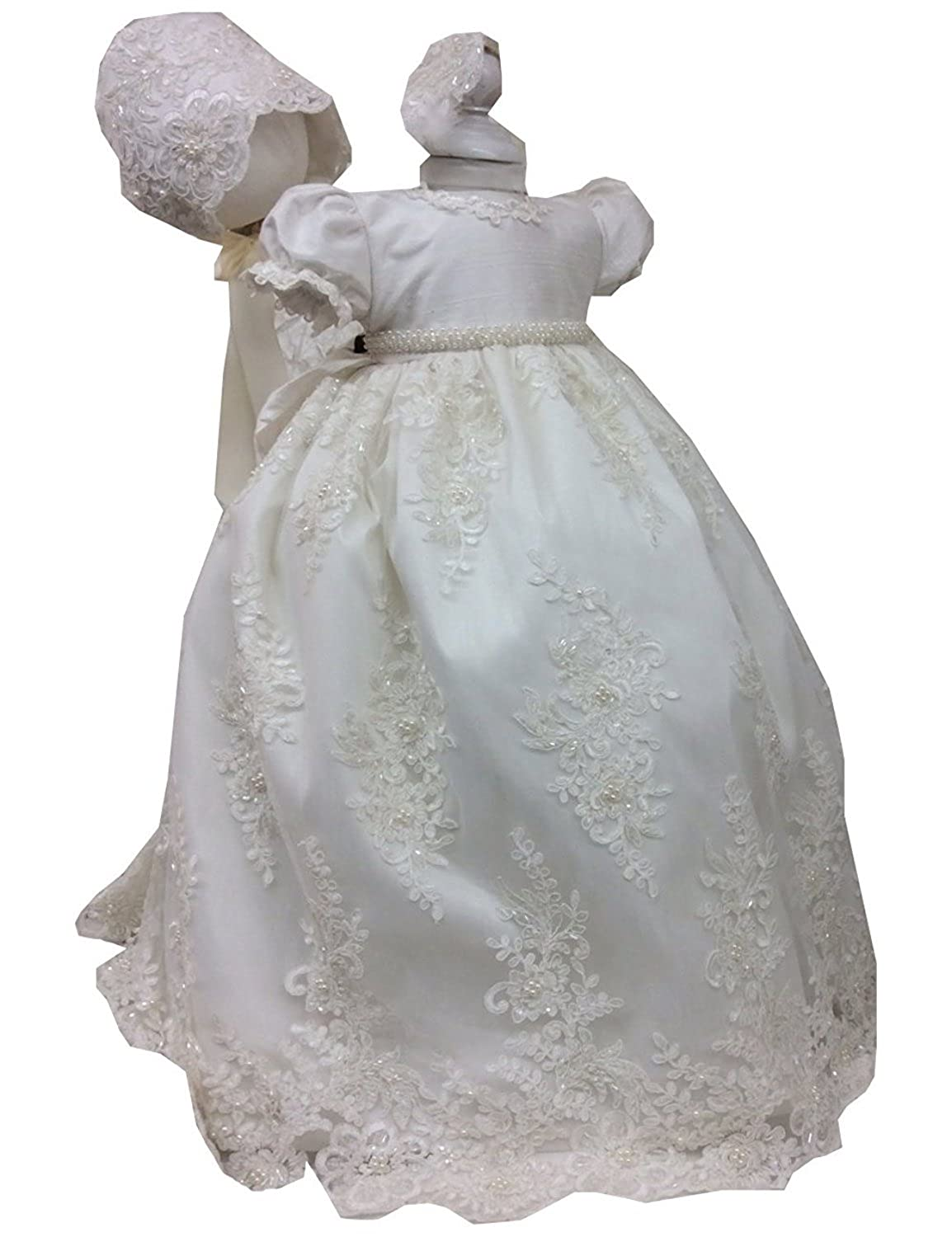 Amazon.com: SHENLINQIJ White Lace Christening Gowns Baby Baptism ...