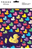 Rubber Ducks Gift Wrap - 2 Sheets + 2 Tags