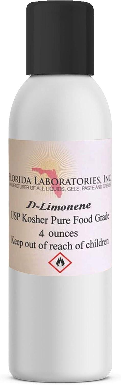Florida Laboratories, Inc. D-Limonene 100% Food Grade Citrus Solvent 4oz Dlimonene Orange Oil