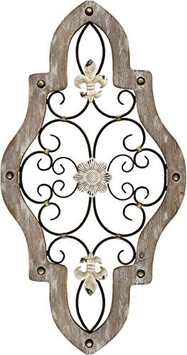 Stratton Home Decor S07678 French Country Scroll Wall Decor