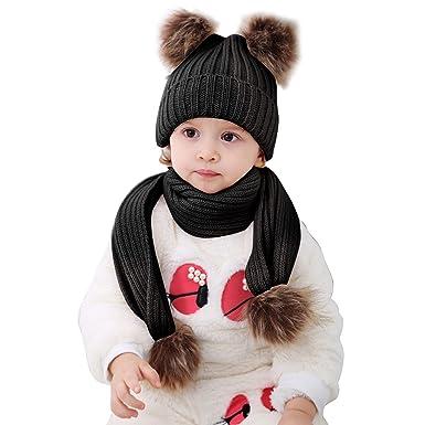 9098d499c78d 2pcs Baby Winter Hat Scarf Set