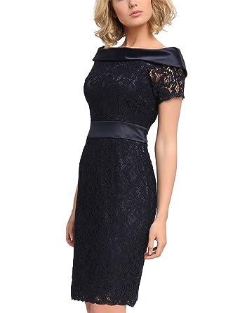 e8fbea6f0a94b APART Fashion Damen Kleid 64326, Blau (Nachtblau), 42: Amazon.de ...