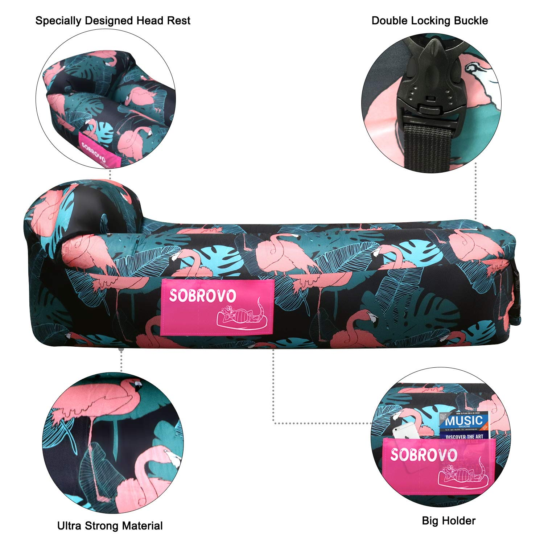 Wandern Luftsofa Outdoor Lazy Carry Tragbarer wasserdichter Schlafsack Ultraleichtes Bett mit Pillow Pool Float f/ür Camping Strand Reisen Schwimmbad Aufblasbares Sofa Hinterhof