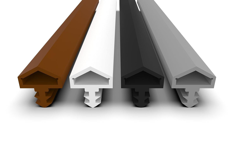 Habitaciones –  Junta para puerta con antidehnungs hilos –  4 mm Anchura –  7 mm nuttiefe –  12 mm pliegue rá pido instalar puerta de alta calidad Junta Junta
