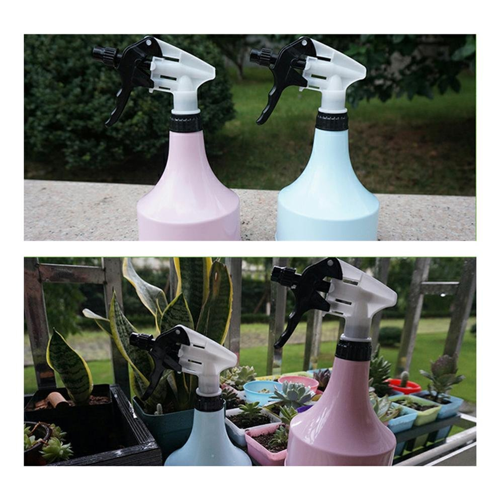 AOLVO plástico botella de agua pulverizador, pulverizador de mano presión riego maceta para casa jardín oficina interior Plantas y Flores, 600 ml de color ...