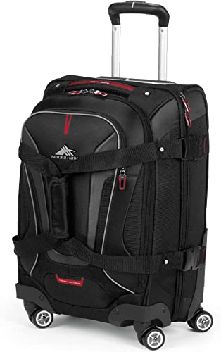 High Sierra AT7 Softside Luggage with Spinner Wheels, Black, Carry-On 22-Inch