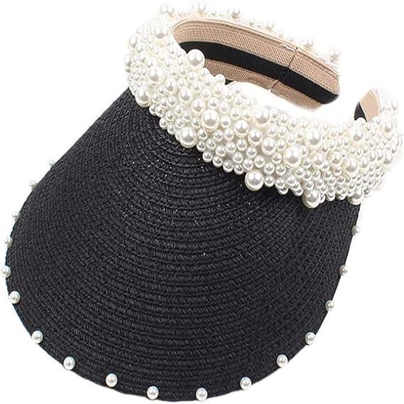 Cappello da spiaggia vuoto, in paglia perla, cappello da ...