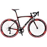 Carbon Road Bike, SAVADECK Warwinds4.0 700C Carbon Fiber Road Bicycle with SHIMANO TIAGRA 20 Speed Derailleur System and Double V Brake