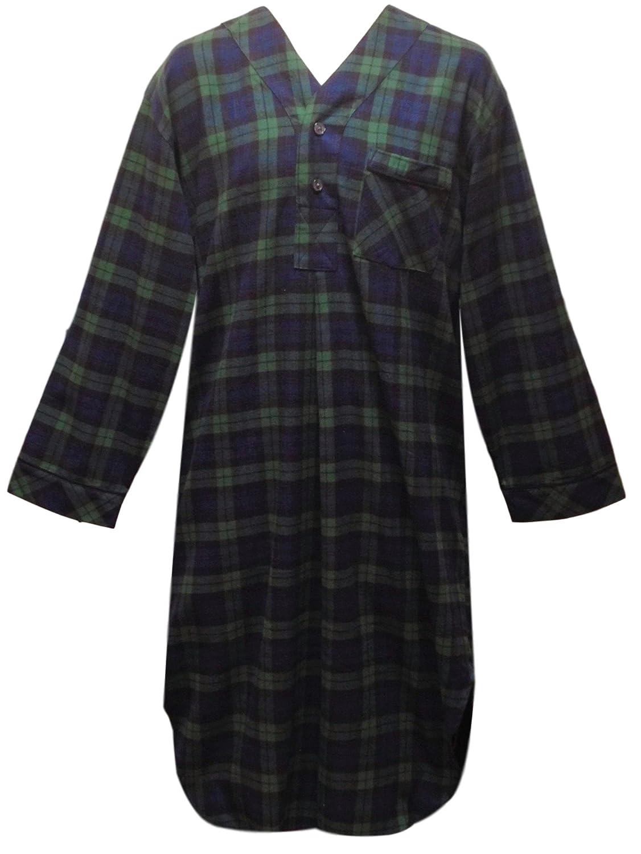 a6027beae2 Amazon.com  Stafford Men s Flannel Nightshirt  Clothing