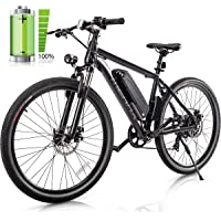 "26"" Electric Mountain Bicycle - 350W Electric Bike with 36V/8.8AH Removable Lithium-Ion Battery, Shimano 7 Speed Shifter"