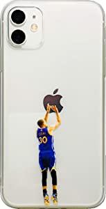 ECHC Favorite Basketball Player Hard Plastic Case Compatible for iPhone (Curry Back Jumper, iPhone 11)