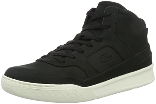 3db41bff8c9b Lacoste Mens 732CAM0018 Hi-Top Trainers Black Size  9.5 UK  Amazon ...