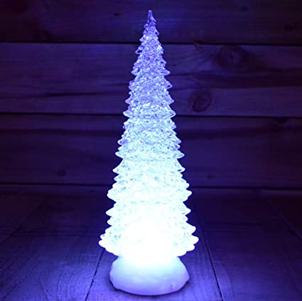 Christmas Tree Not Taking Water.Premier 32cm Battery Operated Light Up Water Spinner Christmas Trees With Colour Changing Leds Timer