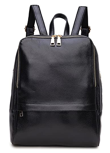 Greeniris Ladies Genuine Leather Backpack Women School Bag Book ...