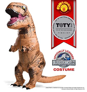 Rubies Jurassic World Adult Inflatable T-Rex Costume with Sonido STD