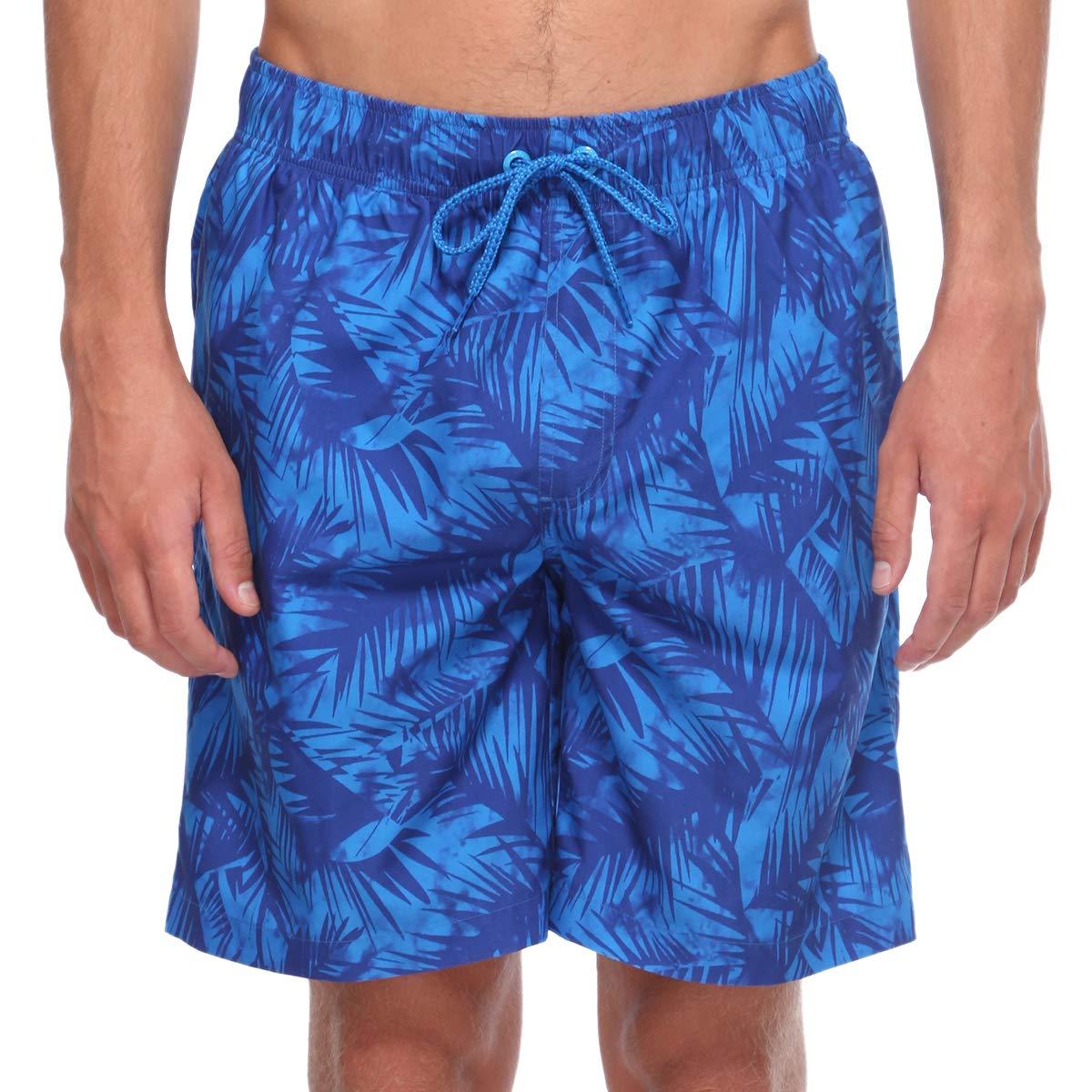 Rokka/&Rolla Mens Quick Dry Drawstring Waist Swim Trunks Board Shorts with Mesh Lining