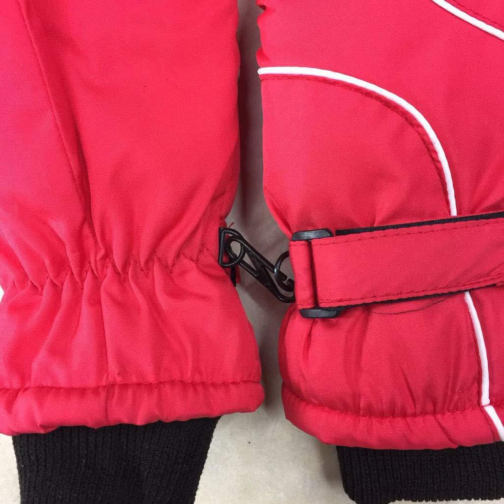 Misha Kids Gloves Waterproof Winter Warm Gloves Ski Kids Mittens Anti-slip for Toddler Infant Children Unisex,