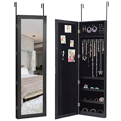 Hanging Jewellery Organiser Mirror Jewellery Cabinet With Mirror
