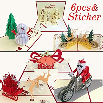 Love Santa Love Santa for cards and crafts 6pcs Do-crafts 3D Stickers