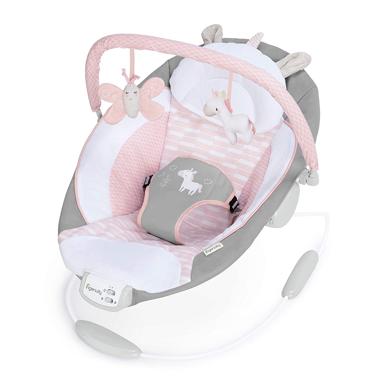 Ingenuity Cradling Bouncer - Flora - Ultra-Plush Bouncy Seat