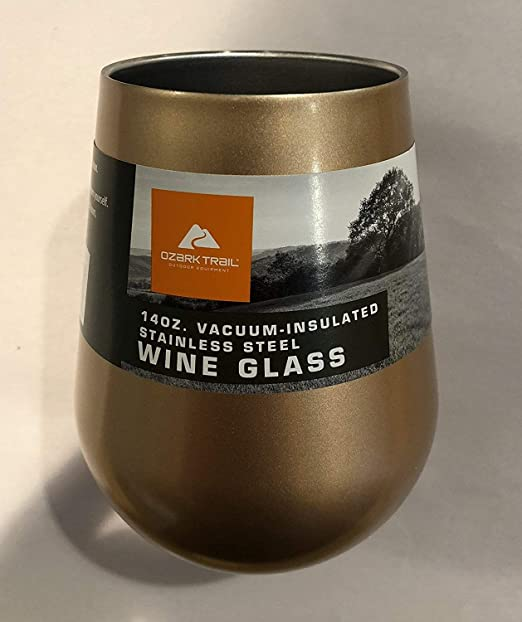 Vacuum Insulated Stainless Steel Wine Glass *FAST* BRAND NEW Ozark Trail 14 OZ