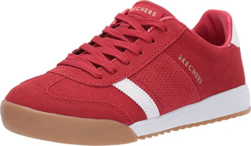 Groenlandia juego Sin lugar a dudas  Buy Skechers Zinger 2.0 The White Stripe Womens Sneakers Red/White 9.5 at  Amazon.in
