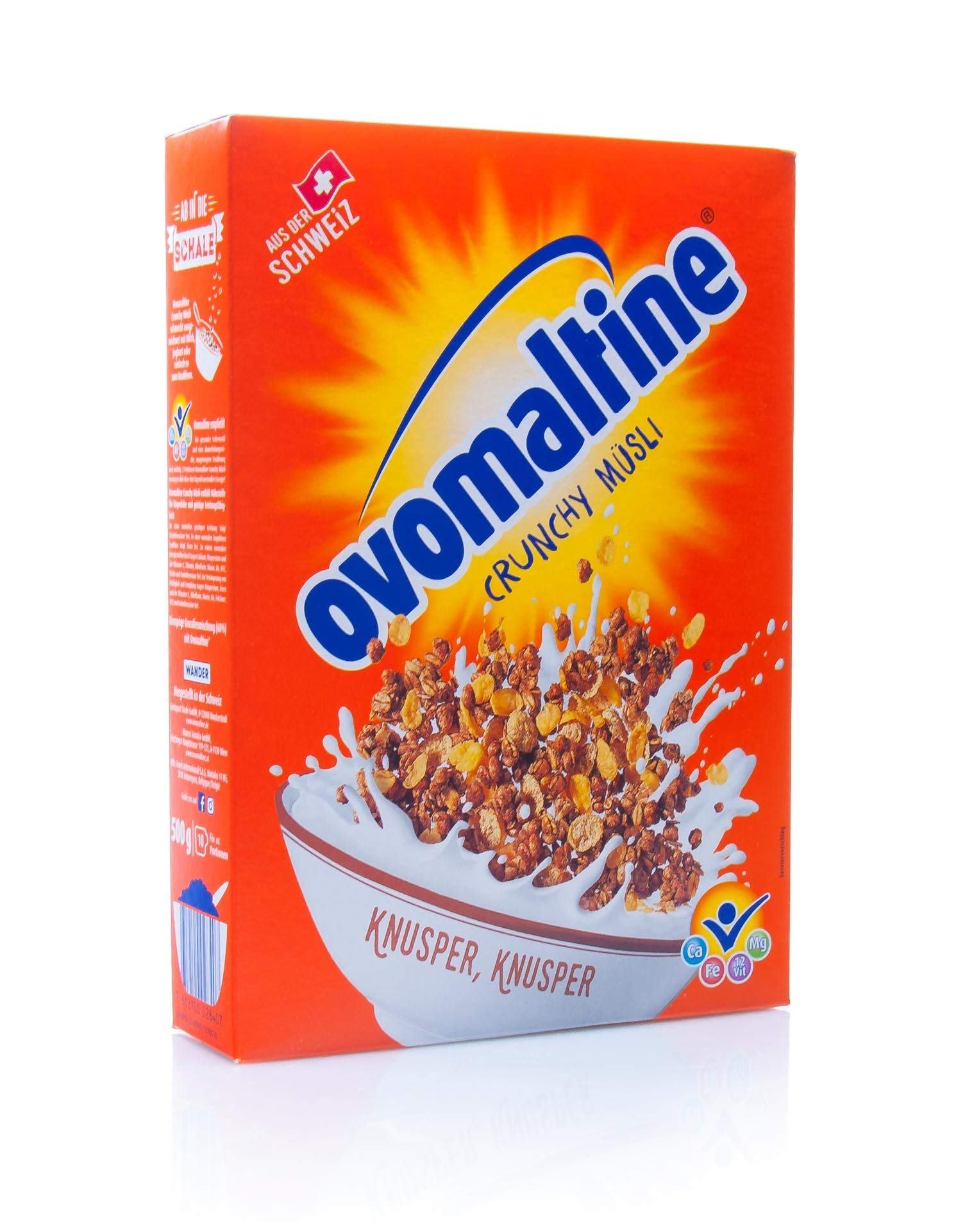 Ovomaltine Crisp cereals, cereal mixed with Ovaltine - 500g