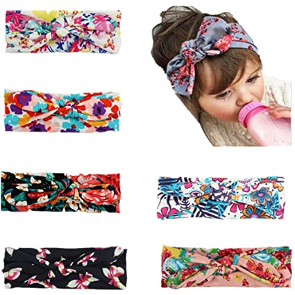 BrilliantDay 6 PCS Turban Headband Kids Hair Bows for Babies  Amazon.co.uk   Kitchen   Home 7dd725b095e