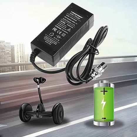 demiawaking Cargador 29,4 V 2 A con conector a Enchufe RCA ...