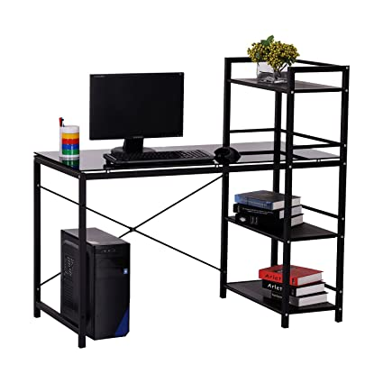 Office workstation desk Small Space Image Unavailable Amazoncom Amazoncom Homcom 50
