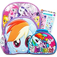 My Little Pony Backpack with Lunch Box (16 Deluxe MLP Backpack with Lunch Kit and Stickers)