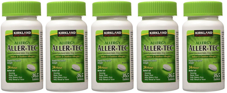 Kirkland Signature Aller-Tec Cetirizine Hydrochloride Tablets VWWFt 1825 Count