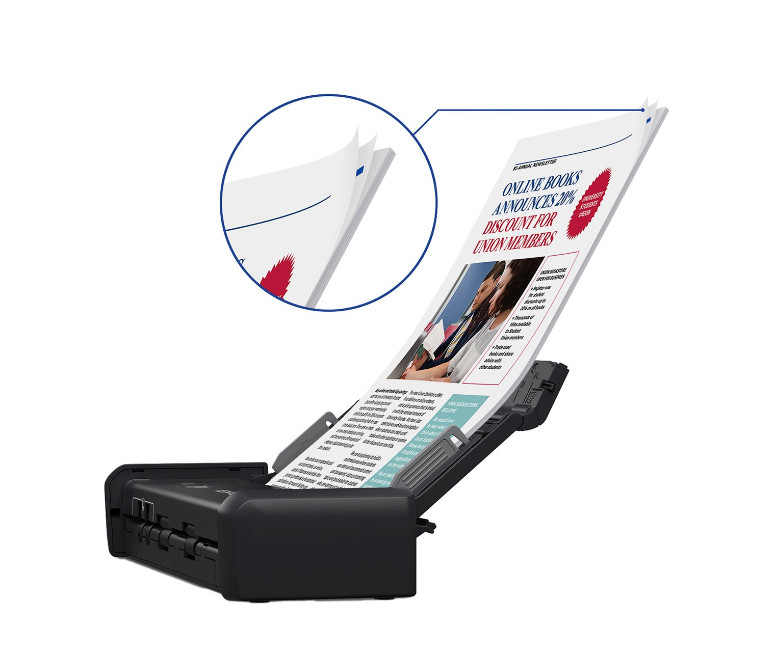 Epson WorkForce ES-200 Color Portable Document Scanner with ADF for PC and Mac, Sheet-fed and Duplex Scanning by Epson (Image #5)