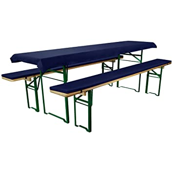Beautissu Comfort Xs Trestle Table Set Tablecloth With Padded Seat