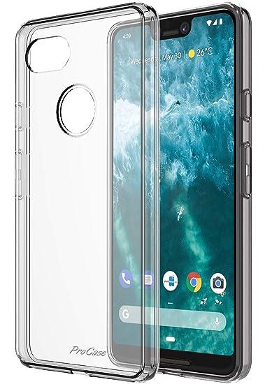 promo code e59e2 1fbf5 ProCase Clear Case for Google Pixel 3 XL, Ultra Hybrid Slim Liquid Crystal  Clear Protective Cover for Google Pixel 3XL 2018 –Clear