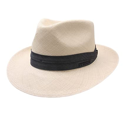 2db4648f57e30c Stetson Fedora Panama 7/8 Fedora Hat at Amazon Men's Clothing store: