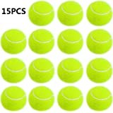 Smartlife15 Practice Tennis Balls, Pressureless Training Exercise Tennis Balls, Soft Rubber Tennis Balls Children Beginners Pet, Pack of 15