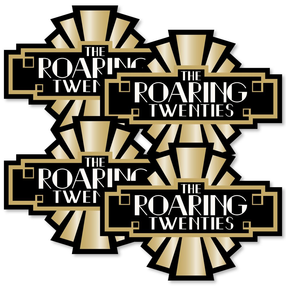 Roaring 20's - Art Deco DIY 1920s Jazz Party Essentials - Set of 20