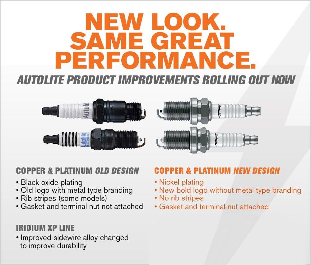 Pack of 2 Autolite AP2545DP2 Platinum Spark Plug